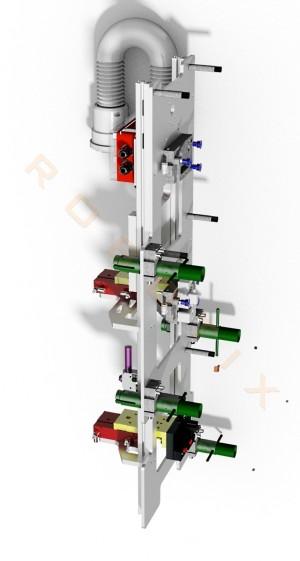 Entnahme- Umsetz- und Einlegegreifer 2 Stück Schrauben und eine Schiene