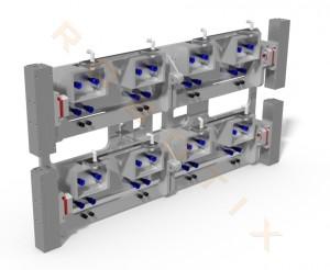 Entnahmegreifer 8-fach mit Box-Schließfunktion